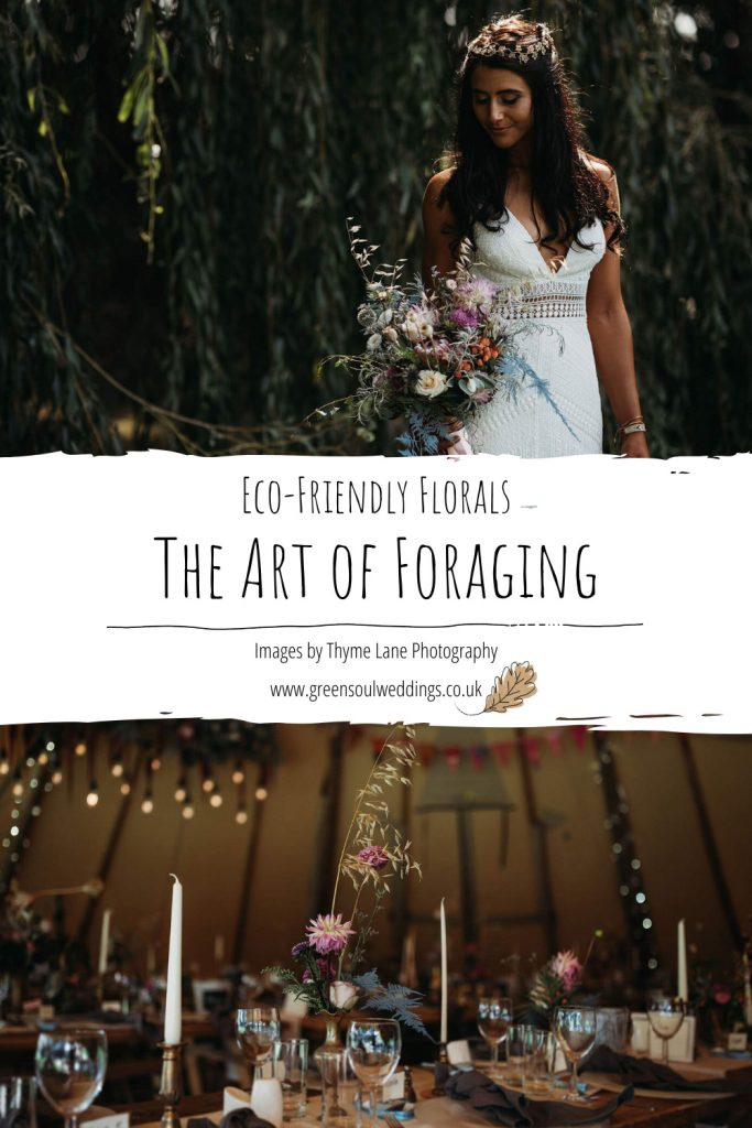Eco-friendly florals - The art of foraging pinterest graphic for future reference