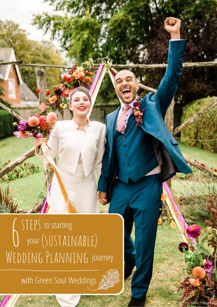 The front cover of a wedding planning guide providing support on gettign started with your wedding planning journey
