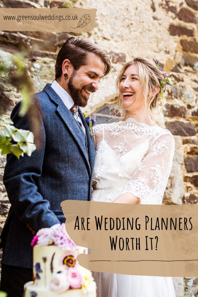 Blog graphic to share this post with others wondering the worth of wedding planners