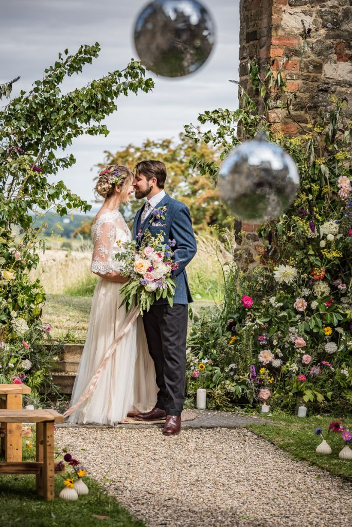 The main archway at this unique Bedfordshire wedding venue provides a beautiful backdrop and view of the surrounding nature